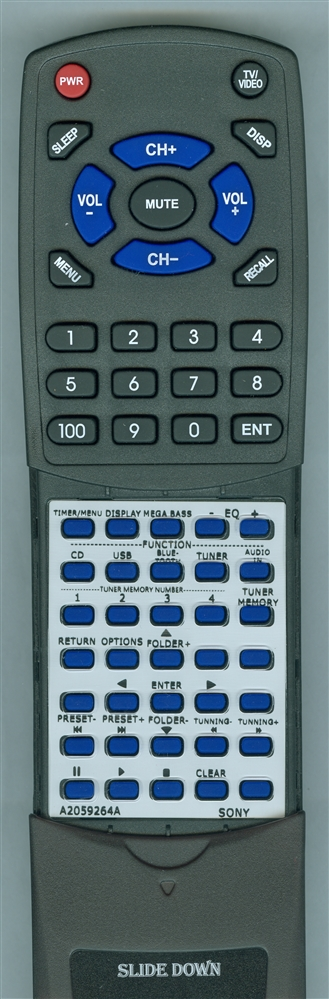 SONY A-2059-264-A RM-AMU211 Custom Built Redi Remote