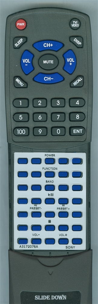 SONY A-3172-076-A RMTCE95A - BLACK Custom Built  Redi Remote