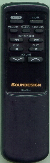 SOUNDESIGN 987AREM 987AREM Refurbished Genuine OEM Original Remote