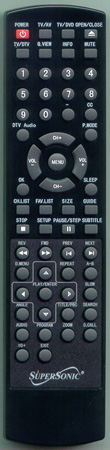 SUPERSONIC FC2200 Genuine  OEM original Remote