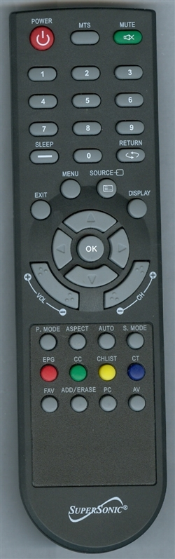 SUPERSONIC SC1331 BLACK Genuine  OEM original Remote