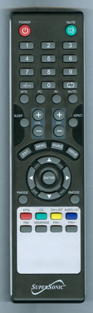 SUPERSONIC SC1331S Genuine OEM original Remote