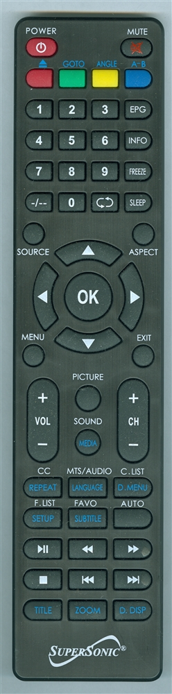 SUPERSONIC SC2412 Genuine OEM original Remote