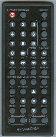 SUPERSONIC SC491 Genuine  OEM original Remote