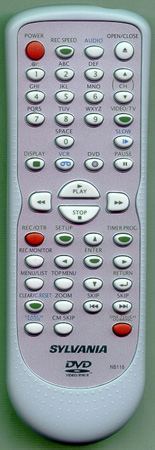 SYLVANIA NB118UD NB118 Genuine  OEM original Remote