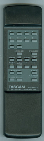 TASCAM E01602200A RC-CD200I Genuine OEM original Remote