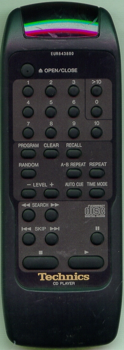TECHNICS EUR643880 EUR643880 Refurbished Genuine OEM Remote