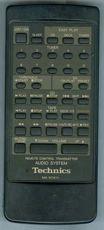 TECHNICS RAK-SC301X RAKSC301X Genuine  OEM original Remote