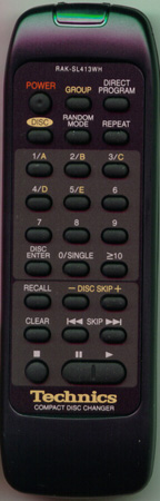 TECHNICS RAK-SL413WH RAKSL413WH Genuine  OEM original Remote