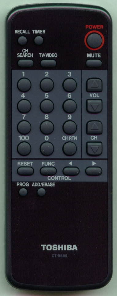 TOSHIBA 23120039 CT9585 Refurbished Genuine OEM Original Remote
