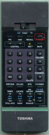 TOSHIBA 23120238 CT9540 Genuine  OEM original Remote