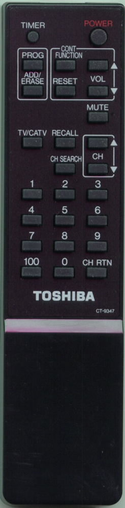 TOSHIBA 23120459 CT9347 Refurbished Genuine OEM Original Remote