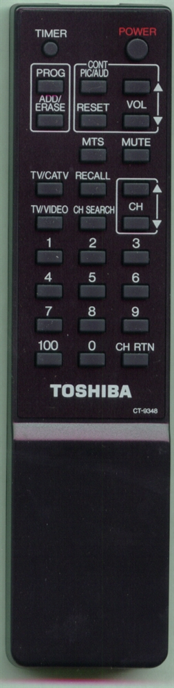 TOSHIBA 23120460 CT9348 Refurbished Genuine OEM Original Remote
