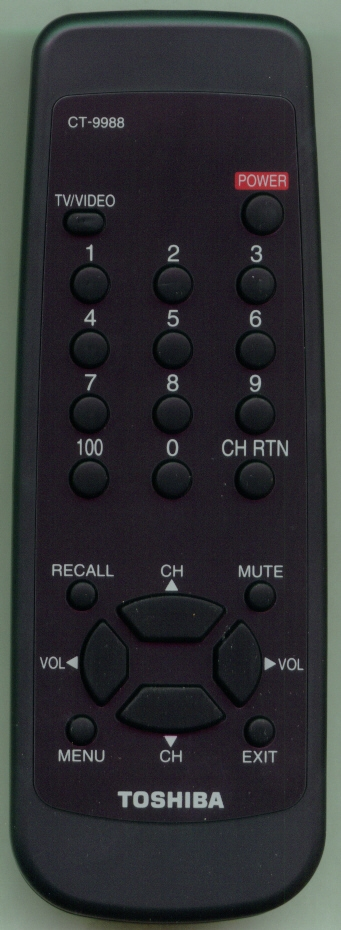 TOSHIBA 23306309 CT9988 Refurbished Genuine OEM Original Remote