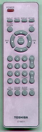 TOSHIBA 75004958 CT8011 Genuine  OEM original Remote