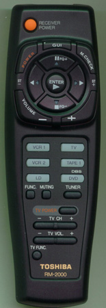 TOSHIBA AXD7108 RM2000 Genuine  OEM original Remote