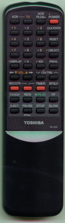 TOSHIBA BZ684349 VC473 Genuine  OEM original Remote