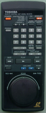 TOSHIBA RMW70 RMW70 Genuine  OEM original Remote