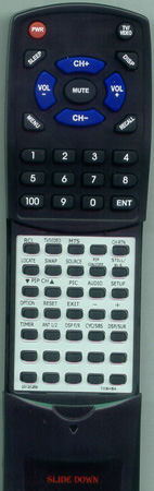 TOSHIBA 23120258 CT9667 Custom Built Redi Remote