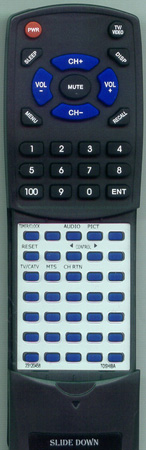 TOSHIBA 23120458 CT9354 Custom Built Redi Remote