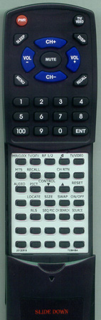 TOSHIBA 23120515 CT9277 Custom Built Redi Remote