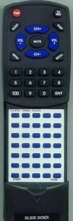 TOSHIBA 23120675 CT9207 Custom Built Redi Remote
