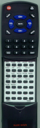 TOSHIBA 23306110 CT9809 Custom Built Redi Remote