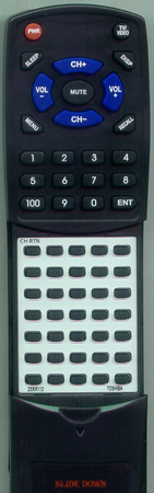 TOSHIBA 23306112 CT9814 Custom Built Redi Remote