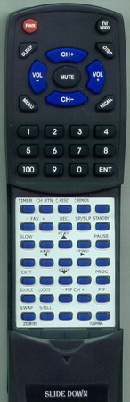 TOSHIBA 23306181 CT9853 Custom Built Redi Remote