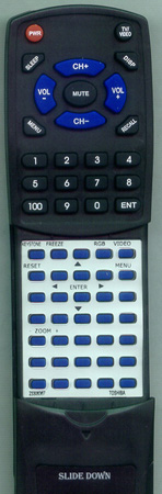 TOSHIBA 23306367 CT90038 Custom Built Redi Remote