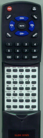 TOSHIBA 23306370 CT90047 Custom Built Redi Remote