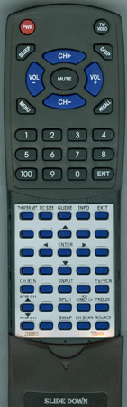 TOSHIBA 23306510 CT90168 Custom Built Redi Remote