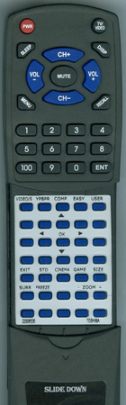 TOSHIBA 23306535 CT90188 Custom Built Redi Remote