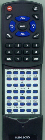 TOSHIBA 23306627 CT90233 Custom Built Redi Remote