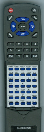 TOSHIBA 590-0409-30 Custom Built Redi Remote