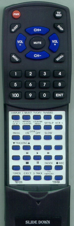 TOSHIBA 70011215 VC758 Custom Built Redi Remote