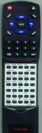 TOSHIBA 70011937 VC750 Custom Built Redi Remote