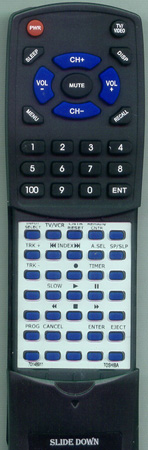 TOSHIBA 70148911 VC754 Custom Built Redi Remote