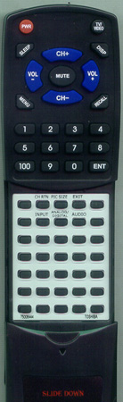 TOSHIBA 75006444 CT8012 Custom Built Redi Remote