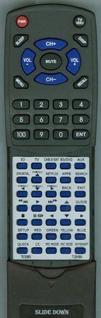 TOSHIBA 75030669 CT90395 Custom Built Redi Remote