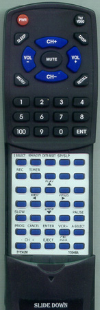 TOSHIBA BY634288 VC608 Custom Built Redi Remote
