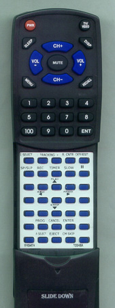 TOSHIBA BY634674 VC622 Custom Built Redi Remote