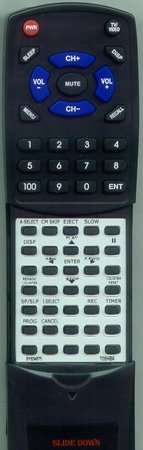 TOSHIBA BY634675 VC522 Custom Built Redi Remote