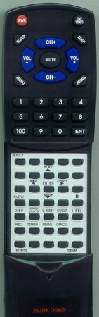 TOSHIBA BY730782 VC413 Custom Built Redi Remote