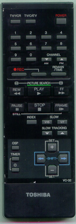 TOSHIBA VC32 VC32 Genuine  OEM original Remote