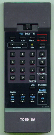 TOSHIBA 23120010 CT-9562 Genuine  OEM original Remote