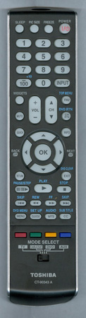 TOSHIBA 75018762 CT-90343 A Genuine  OEM original Remote