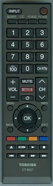 TOSHIBA 75037885 CT-8037 Genuine OEM original Remote