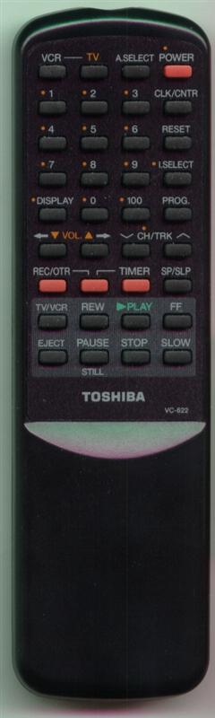 TOSHIBA BZ684333 VC-622 Genuine  OEM original Remote