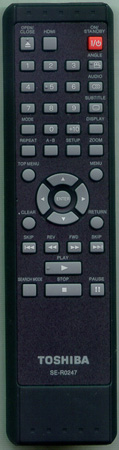 TOSHIBA P000477040 SE-R0247 Genuine OEM original Remote